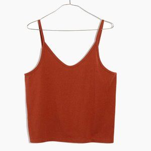 Madewell Anytime Cami Top in Rust Red